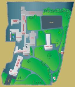 Map of All Hallows Campus.