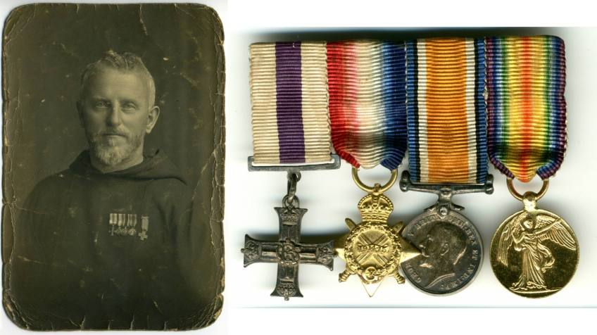 Fr  Ignatius Collins OFM Cap  and his wartime decorations
